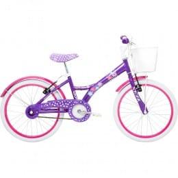 Bicicleta Infantil My Bike 20 Roxa C/ Cesta TITOBIKES