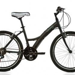 Bicicleta Urban TEEN Aluminio Preta Fosca - Aro 24